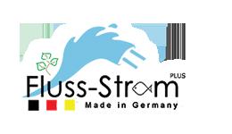 """Logo des Netzwerks """"Flussstrom"""""""